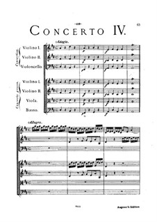 Concerto Grosso No.4: partitura completa by Arcangelo Corelli