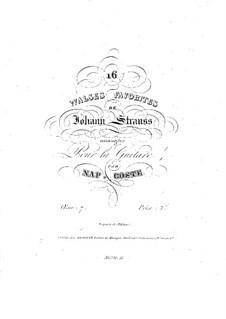 Sixteen Waltzes Favorites: Complete set, for Guitar by Johann Strauss (Sohn)