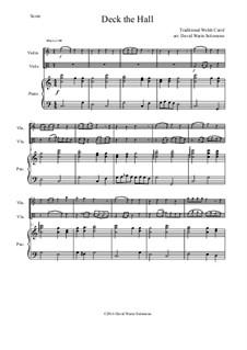 Deck the Hall: para violino,viola e piano by folklore