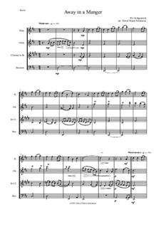 Away in a Manger: Para quarteto de sopro by William (James) Kirkpatrick