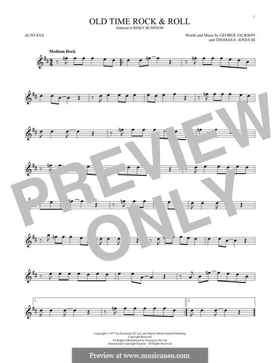 Old Time Rock and Roll: para Saxofone Alto by George E. Jackson, Thomas Jones III