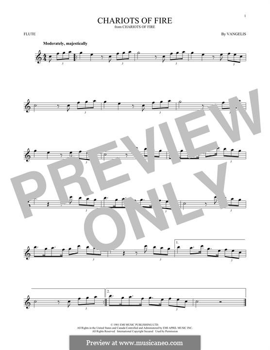 Chariots of Fire: para flauta by Vangelis