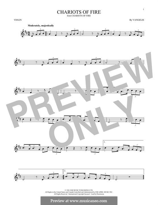 Chariots of Fire: para violino by Vangelis