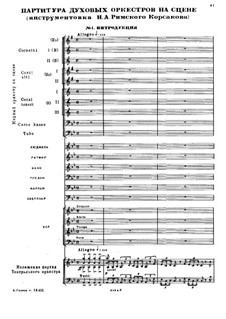 Fragments: No.1, 19, 20 for wind orchestra and piano by Mikhail Glinka