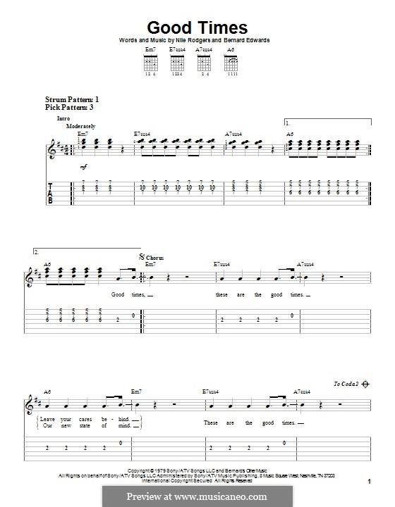 Good Times (Chic): Para guitarra com guia by Bernard Edwards, Nile Rodgers