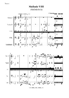 String symphony No.8 in D Major: Score, parts by Felix Mendelssohn-Bartholdy