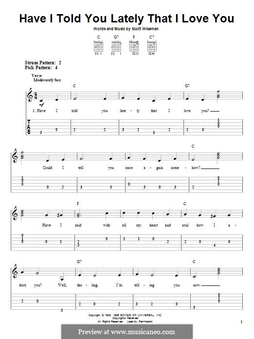 Have I Told You Lately That I Love You: Para guitarra com guia by Scott Wiseman