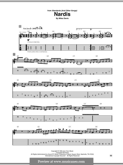 Nardis: Para guitarra com guia by Miles Davis