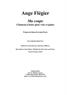 Ma coupe: For baritone voice and piano by Ange Flégier