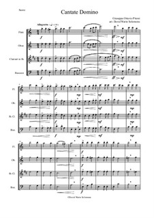 Cantate Domino: Para quarteto de sopro by Giuseppe Pitoni