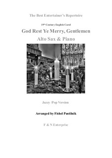 God Rest You Merry, Gentlemen: For alto sax and piano by folklore