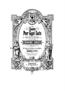 Suite No.2, Op.55: arranjo para violino e piano by Edvard Grieg