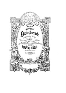 Suite No.2, Op.55: Partitura completa by Edvard Grieg