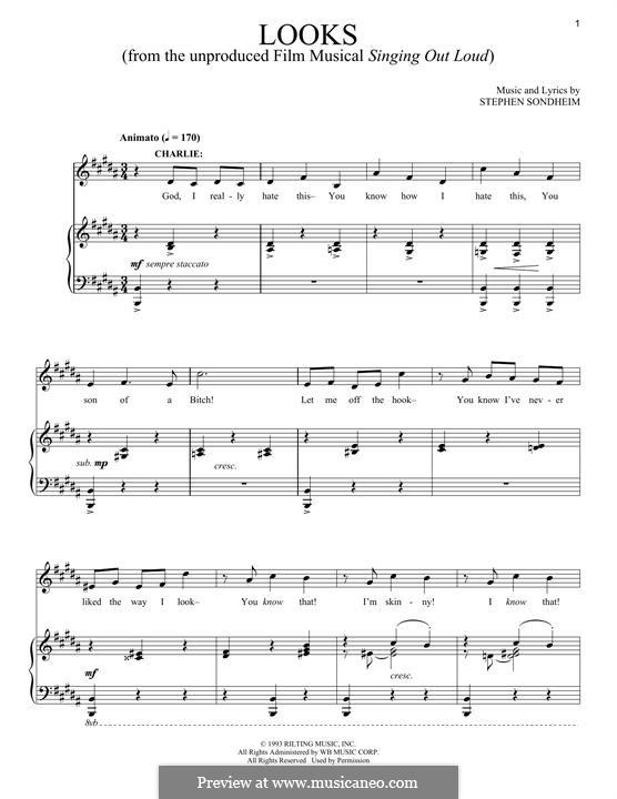 Looks: Para vocais e piano by Stephen Sondheim