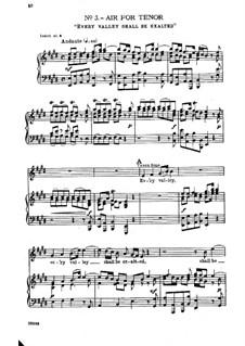 No.3 Every Valley Shall Be Exalted: Para vocais e piano by Georg Friedrich Händel