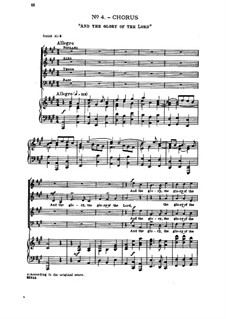 No.4 And the Glory, the Glory of the Lord: Partitura Piano-vocal by Georg Friedrich Händel