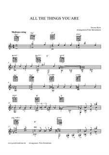 Instrumental version: For acoustic guitar by Jerome Kern