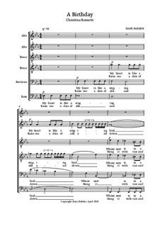 A Birthday for male choir: A Birthday for male choir by Hans Bakker