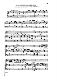 No.18 Rejoice Greatly, O Daughter of Zion: Partitura Piano-vocal by Georg Friedrich Händel