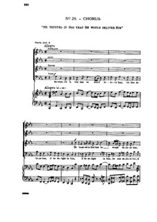 No.28 He Trusted in God: Partitura Piano-vocal by Georg Friedrich Händel
