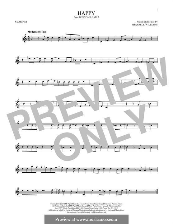 Happy: para clarinete by Pharrell Williams