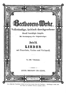 Twelve Songs of Various Nationalities, WoO 157: Twelve Songs of Various Nationalities by Ludwig van Beethoven