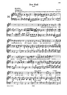 Der Kuss (The Kiss), Op.128: Para vocais e piano by Ludwig van Beethoven