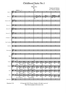 Childhood Suite No.1: For symphonic orchestra - 2nd Movement by Johannes Brahms, folklore