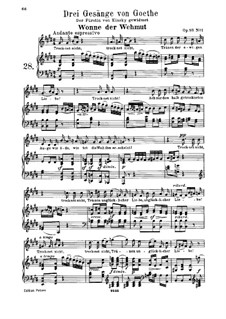 Three Songs for Voice and Piano, Op.83: três musicas para voz e piano by Ludwig van Beethoven
