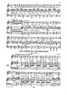 The Good Fortune of Friendship, Op.88: Partitura piano-vocal by Ludwig van Beethoven