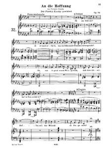 An die Hoffnung (To Hope), Op.94: Partitura piano-vocal by Ludwig van Beethoven