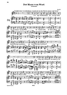 Der Mann vom Wort (The Man of His Word), Op.99: Partitura piano-vocal by Ludwig van Beethoven
