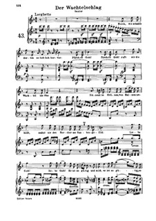 Der Wachtelschlag (The Song of the Quail), WoO 129: Partitura piano-vocal by Ludwig van Beethoven