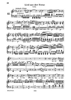 Lied aus der Ferne (Song from Afar), WoO 137: Partitura piano-vocal by Ludwig van Beethoven