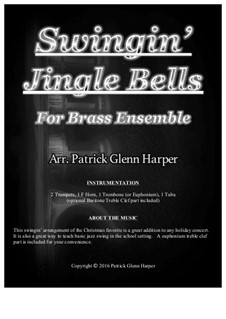 Jingle Bells: For brass ensemble by James Lord Pierpont