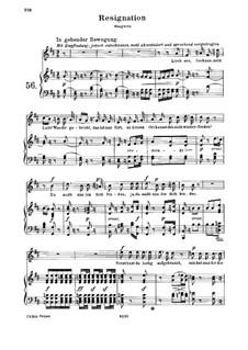 Resignation, WoO 149: Resignation by Ludwig van Beethoven