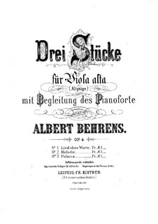 Melodia for Viola and Piano, Op.4 No.2: Melodia for Viola and Piano by Albert Behrens