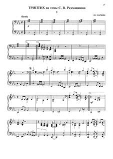 The triptych on the theme of Rachmaninoff (swing): The triptych on the theme of Rachmaninoff (swing) by Sergei Rachmaninoff, Yuri Markin