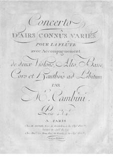 Flute Concerto No.3: Flute Concerto No.3 by Giuseppe Maria Cambini
