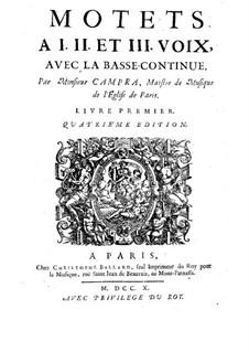 Motets : livro I by André Campra