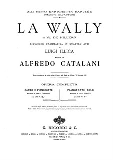La Wally: Partitura Piano-vocal by Alfredo Catalani