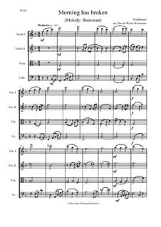 Morning Has Broken: para quartetos de cordas by folklore