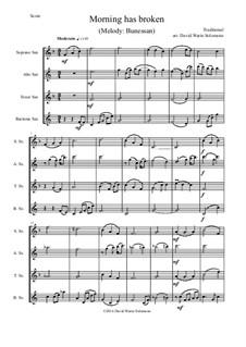 Morning Has Broken: para quarteto de saxofone by folklore