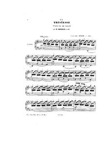 La Tristesse, Op.48: La Tristesse by Peter Cavallo