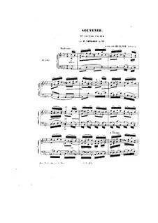 Souvenir, Op.55: Souvenir by Peter Cavallo