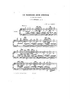 Un dernier Jour d'Hiver, Op.46: Un dernier Jour d'Hiver by Peter Cavallo