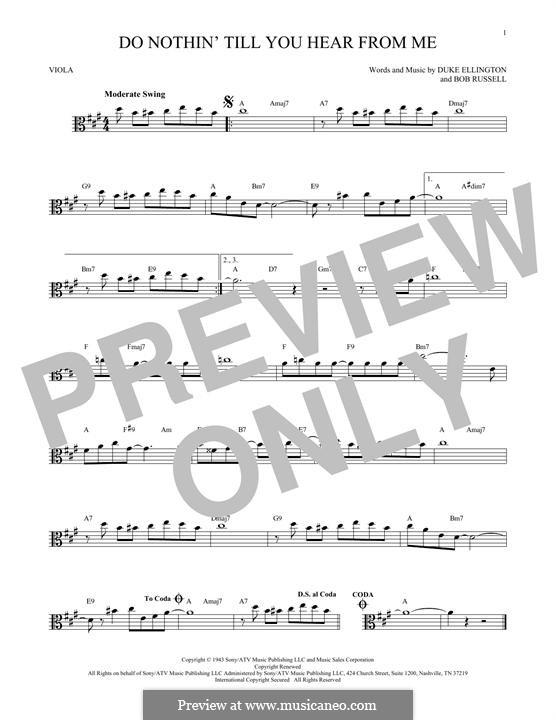 Do Nothin' Till You Hear from Me: para viola by Duke Ellington