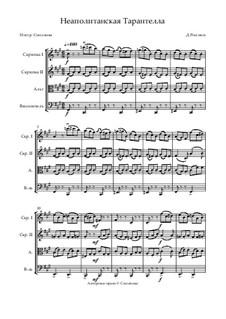 Tarantella Napoletana: para quartetos de cordas by Gioacchino Rossini