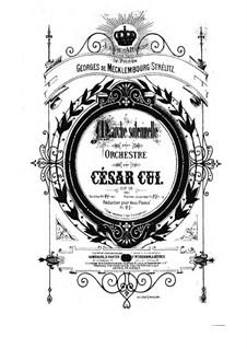 Marche solennelle, Op.18: Partitura completa by César Cui