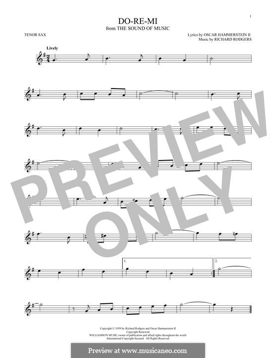 Do-Re-Mi (from The Sound of Music): para saxofone tenor by Richard Rodgers